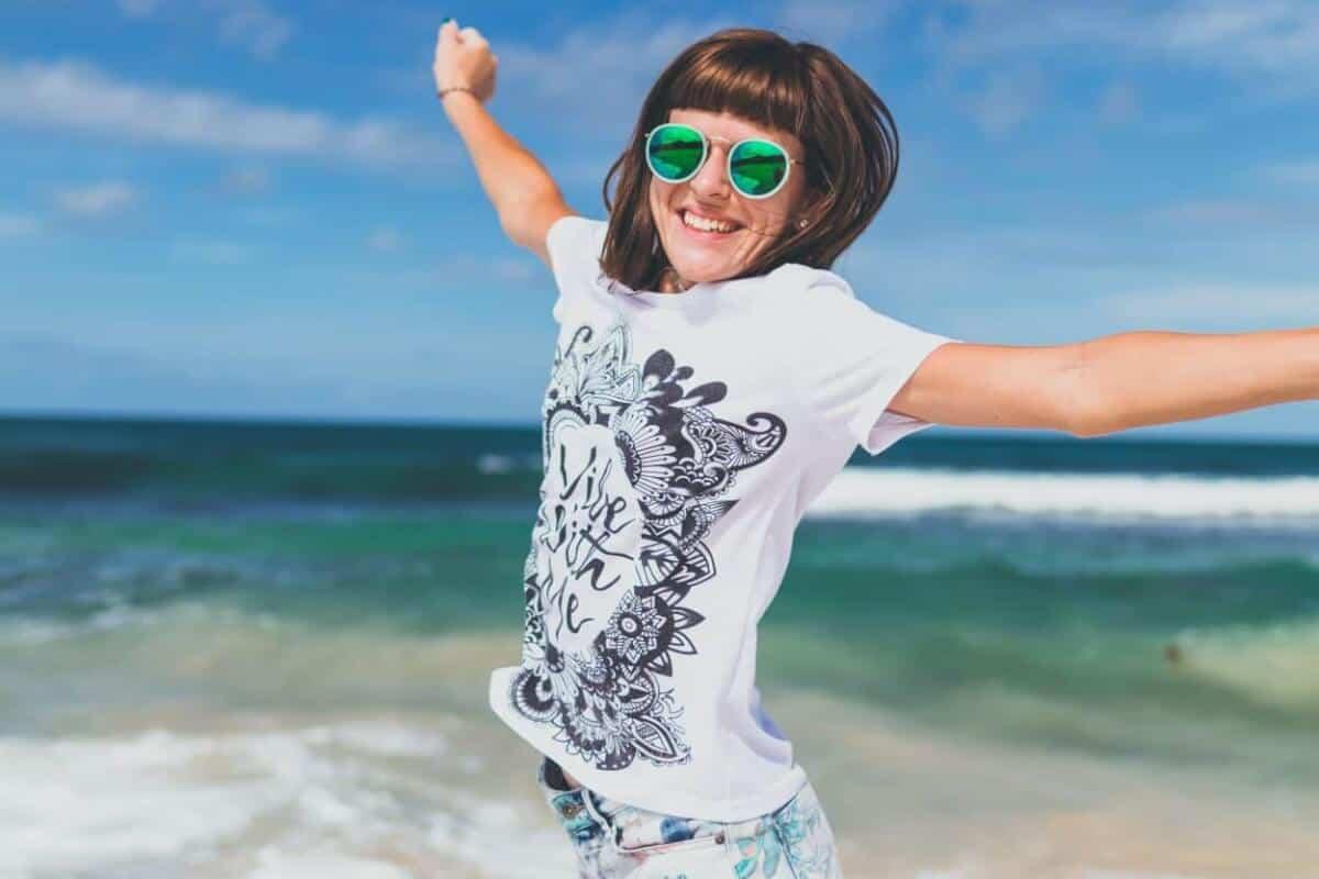 Happy woman in Bali